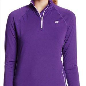Champion Half Zip Pullover Purple XL